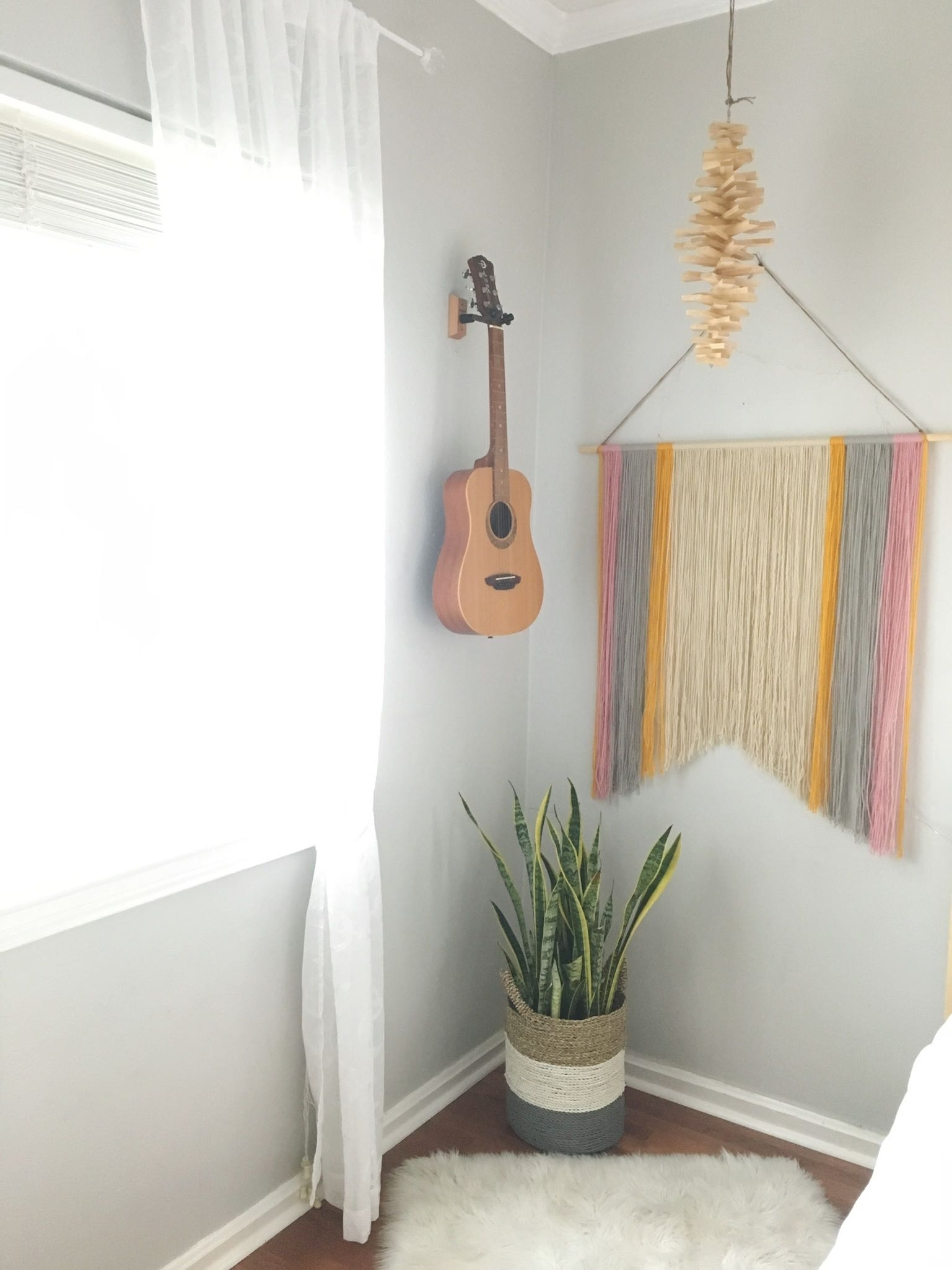 Simple Diy Yarn Wall Art For $10 (Or Less) | That Homebird Life For Most Up To Date Yarn Wall Art (View 17 of 20)