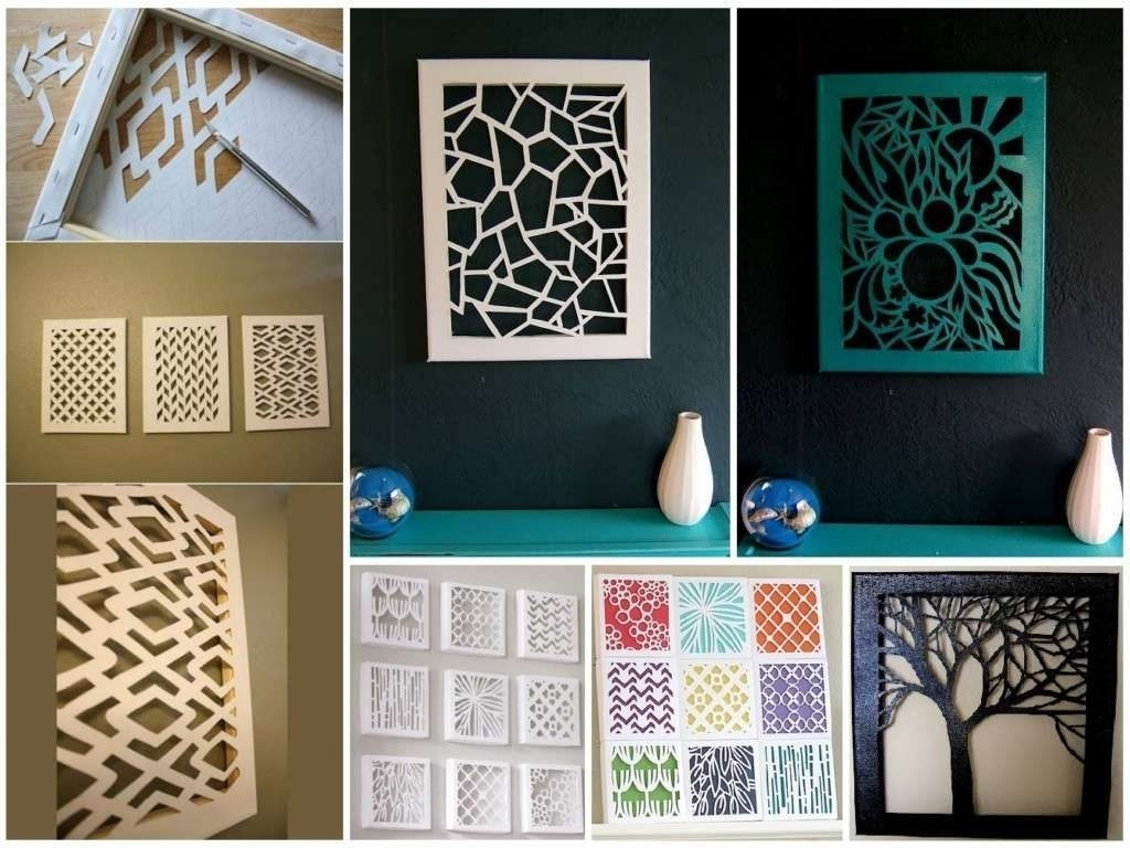 Simple Wall Decor Beautiful Easy Creative Diy Wall Art Ideas For Intended For Most Recent Diy Wall Art (View 15 of 15)
