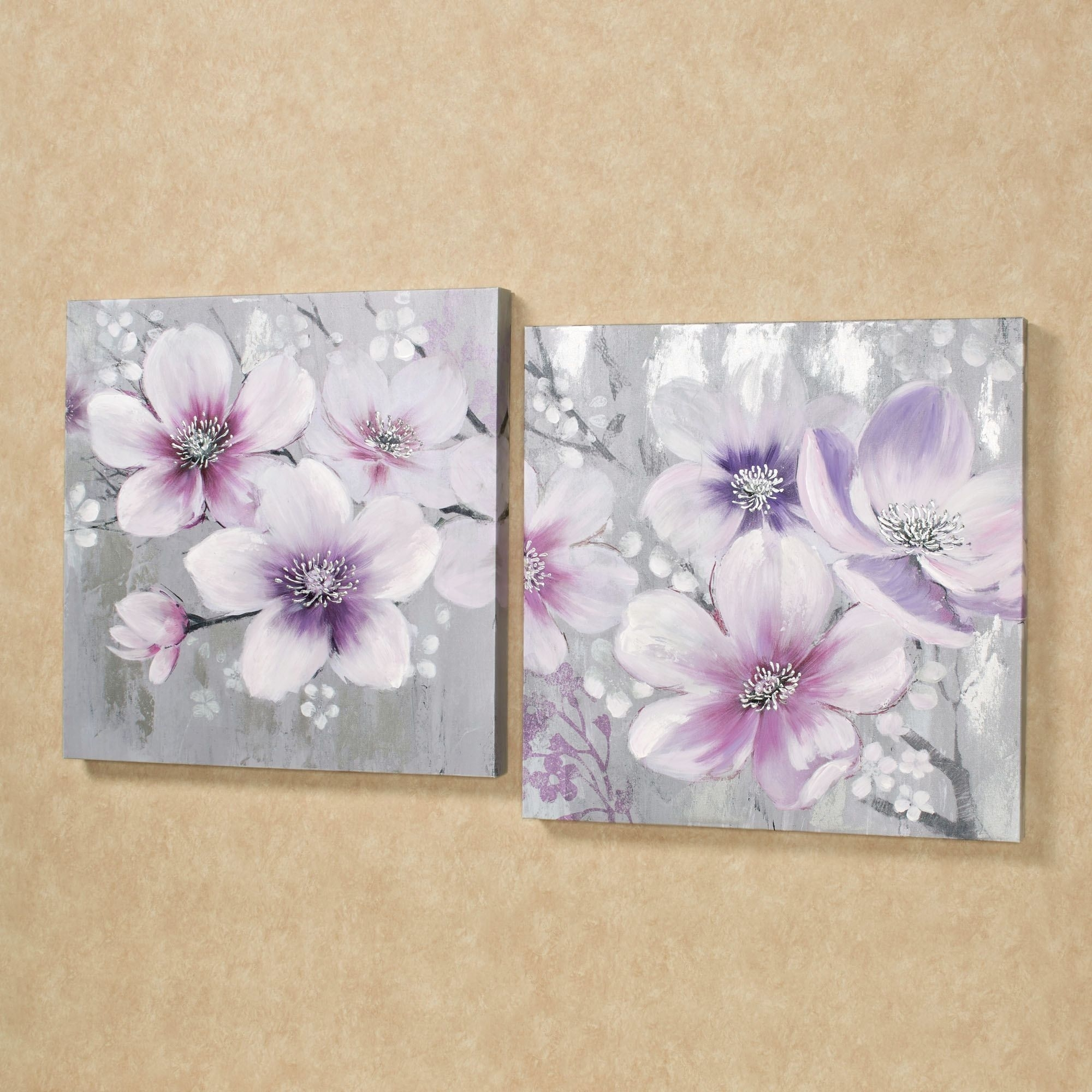 Simplistic Beauties Floral Canvas Wall Art Set | Wall Art Sets In Newest Floral Canvas Wall Art (Gallery 20 of 20)