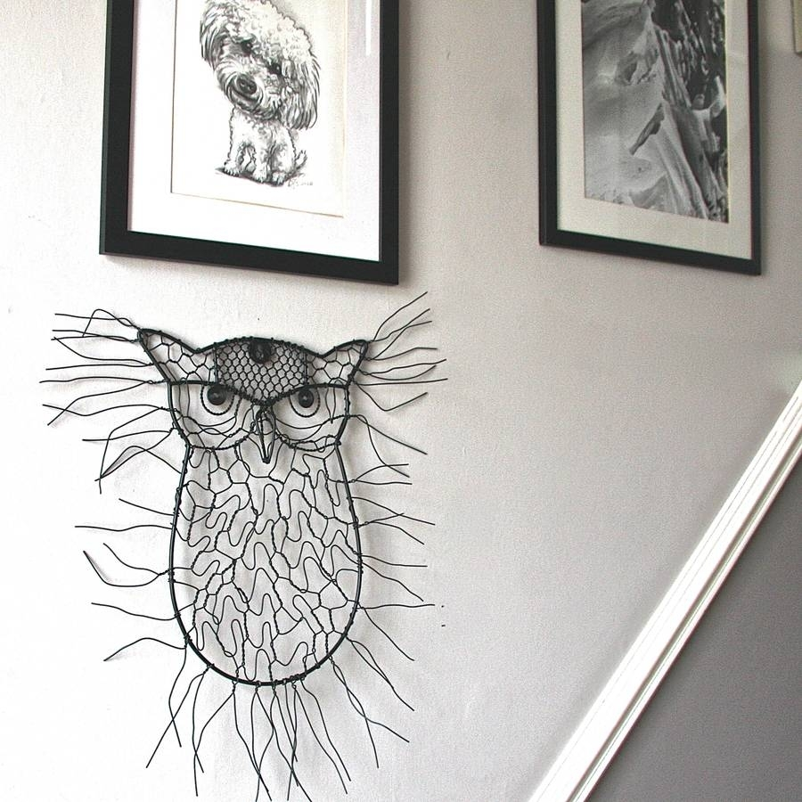 Sitting Owl Wire Garden Wall Artlondon Garden Trading Within Current Wire Wall Art (View 18 of 20)