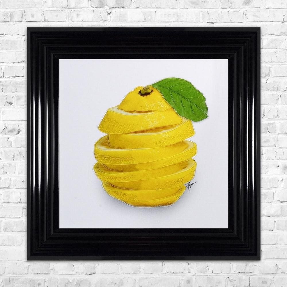 Sliced Lemon Wall Art   55Cm X 55Cm In Recent Lemon Wall Art (View 5 of 20)
