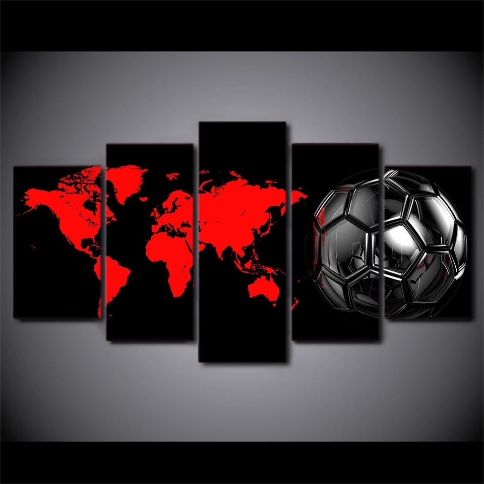 Soccer Football Ball Amazing Soccer Wall Art – Wall Decoration Ideas Throughout Best And Newest Soccer Wall Art (View 14 of 20)