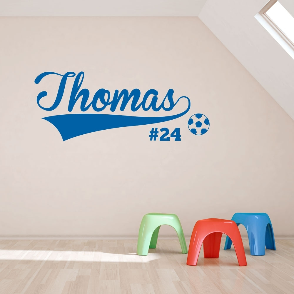 Soccer Player Wall Art Decal With Regard To Current Sports Wall Art (Gallery 4 of 20)