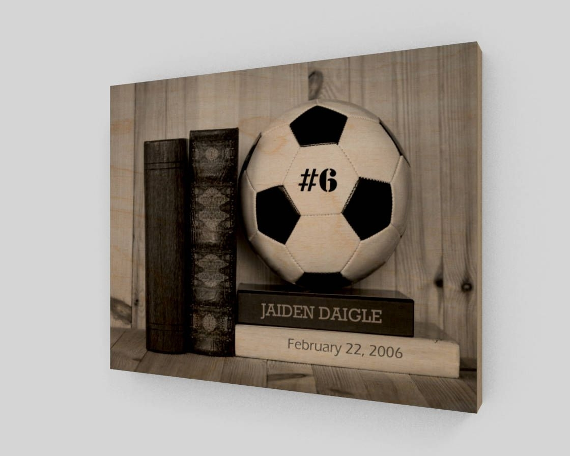 Soccer Wood Sign, Personalized Soccer Wall Art, Soccer Gifts With Regard To 2018 Soccer Wall Art (View 18 of 20)
