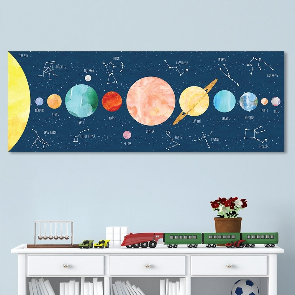 Solar System Print For Kids, Kids Wall Art, Constellation Art Throughout 2017 Kids Wall Art (Gallery 8 of 15)