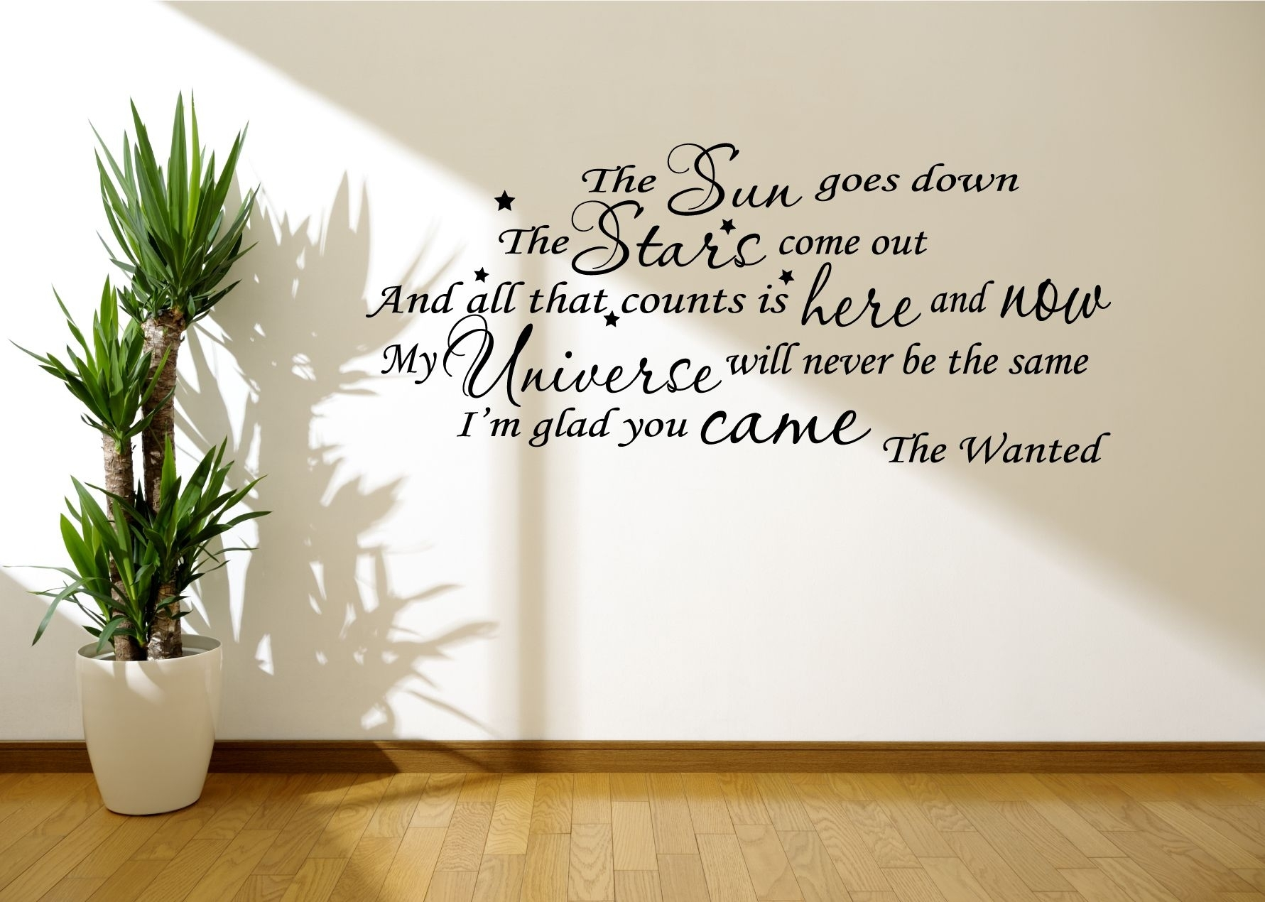 Song Lyric Wall Art – Www (View 4 of 20)
