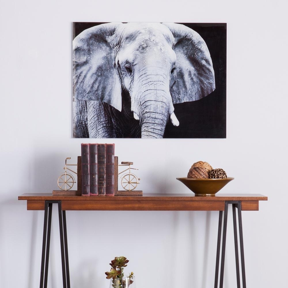 Southern Enterprises 24 H X 32 W The Elephant Glass Wall Art Hd94808 Intended For Most Current Elephant Wall Art (View 14 of 15)