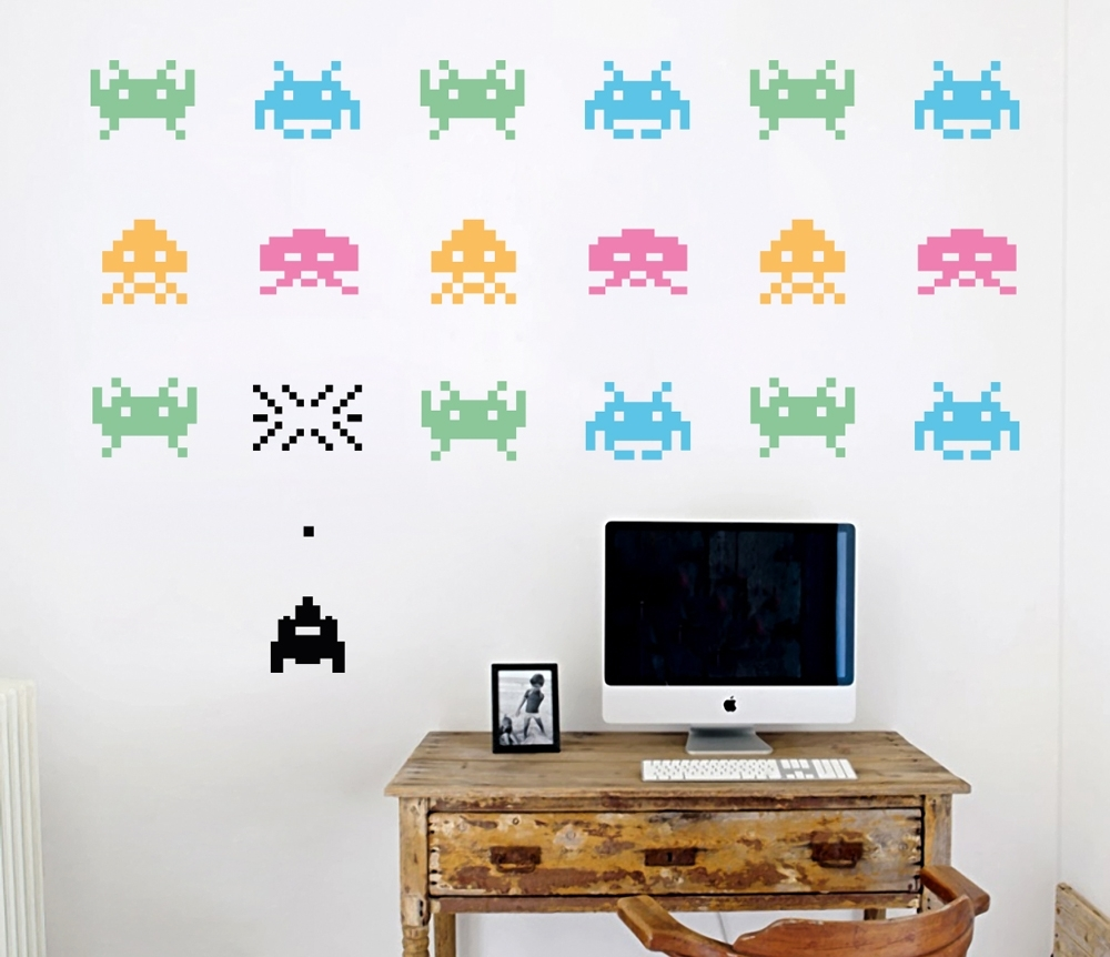 Space Invaders – Your Decal Shop | Nz Designer Wall Art Decals In Current Wall Art Decals (View 6 of 15)