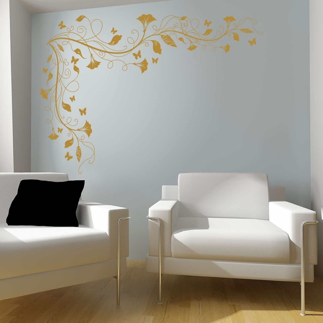 Spartacus Art – Wall Stickers / Decals / Transfers – Vines And Intended For Most Up To Date Corner Wall Art (Gallery 11 of 20)