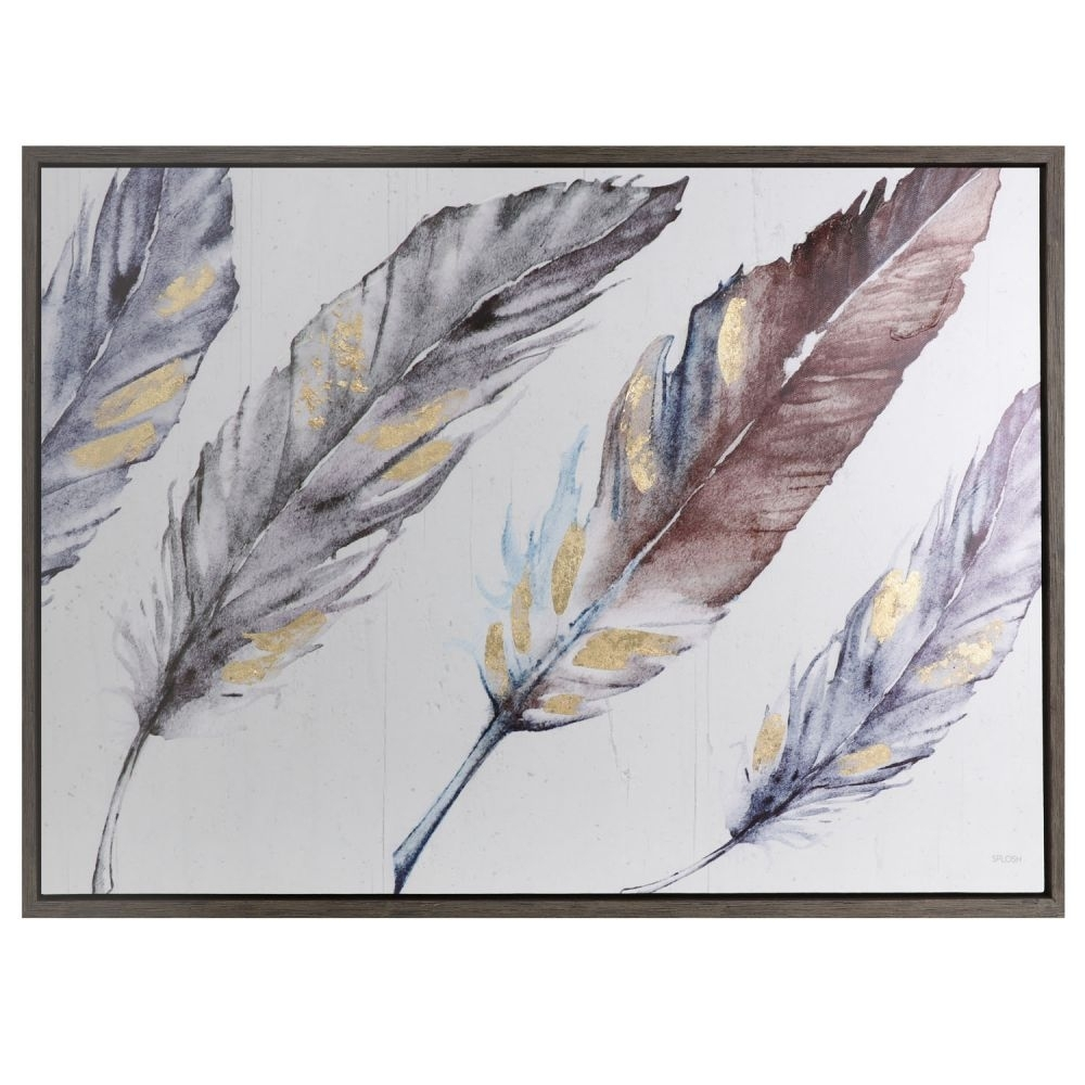 Spirit 2 Wall Art 84X62 Feathers 2 For Most Up To Date Feather Wall Art (View 13 of 20)