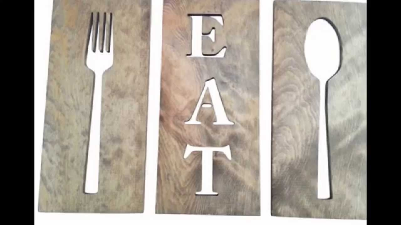 Spoon And Fork Wall Decor # Diy Fork And Spoon Wall Decor – Youtube For 2018 Fork And Spoon Wall Art (View 16 of 20)