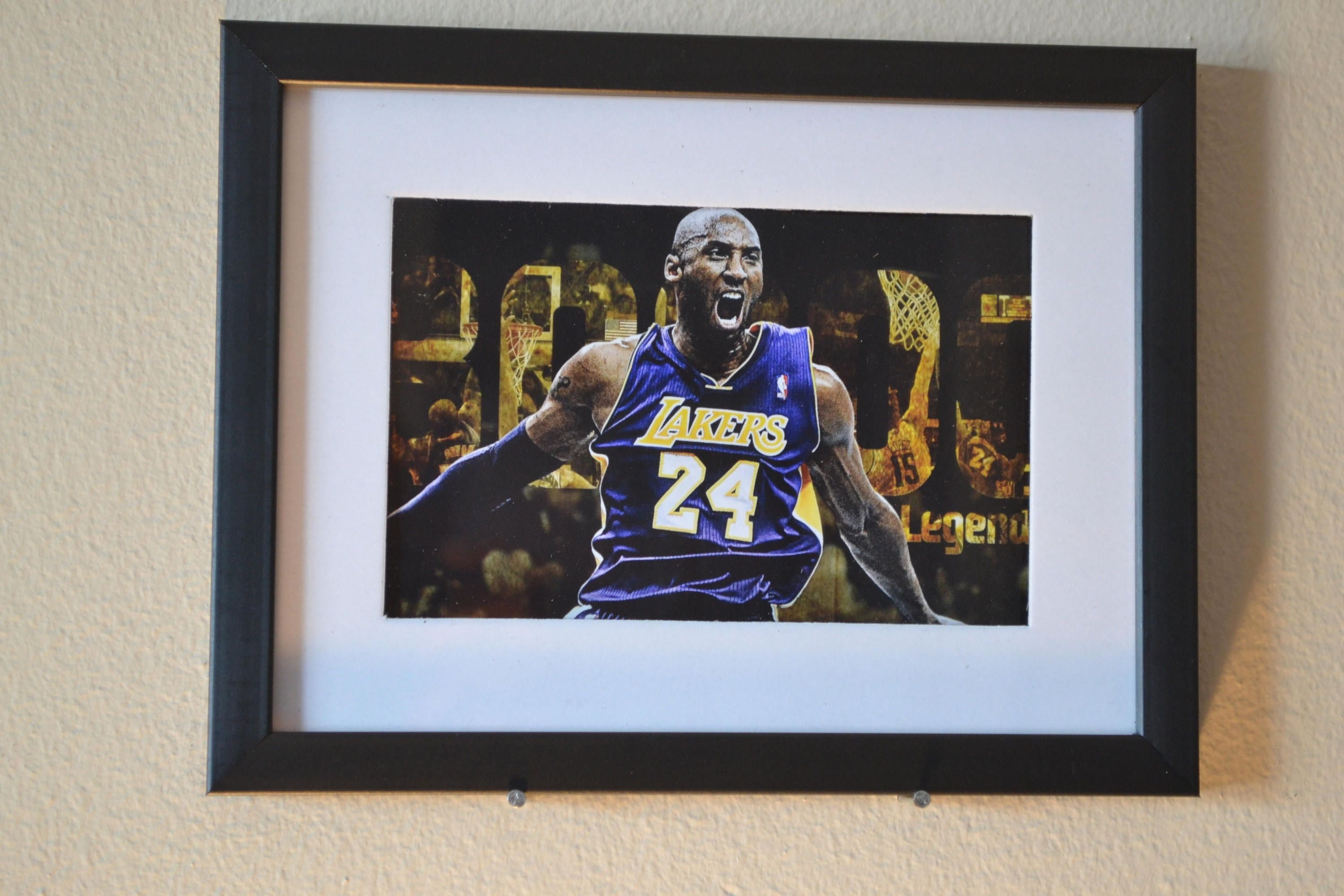 "Sports Wall Art Kobe Bryant ""fury"" Best Selling Item 