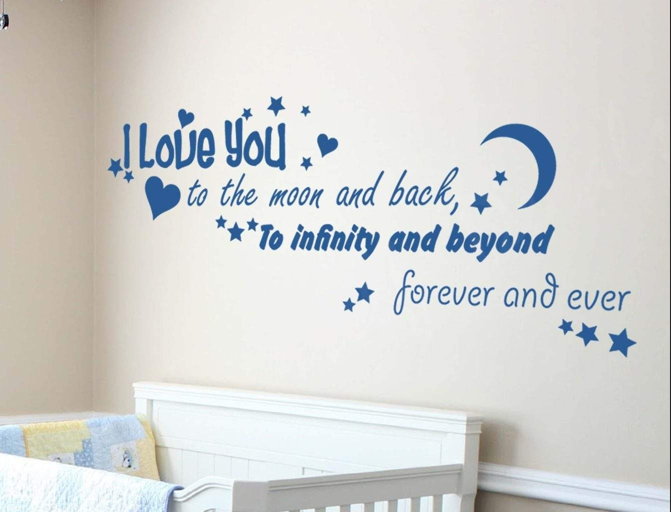 Spread Love With Love Based Wall Decals Within Most Current I Love You To The Moon And Back Wall Art (View 8 of 20)