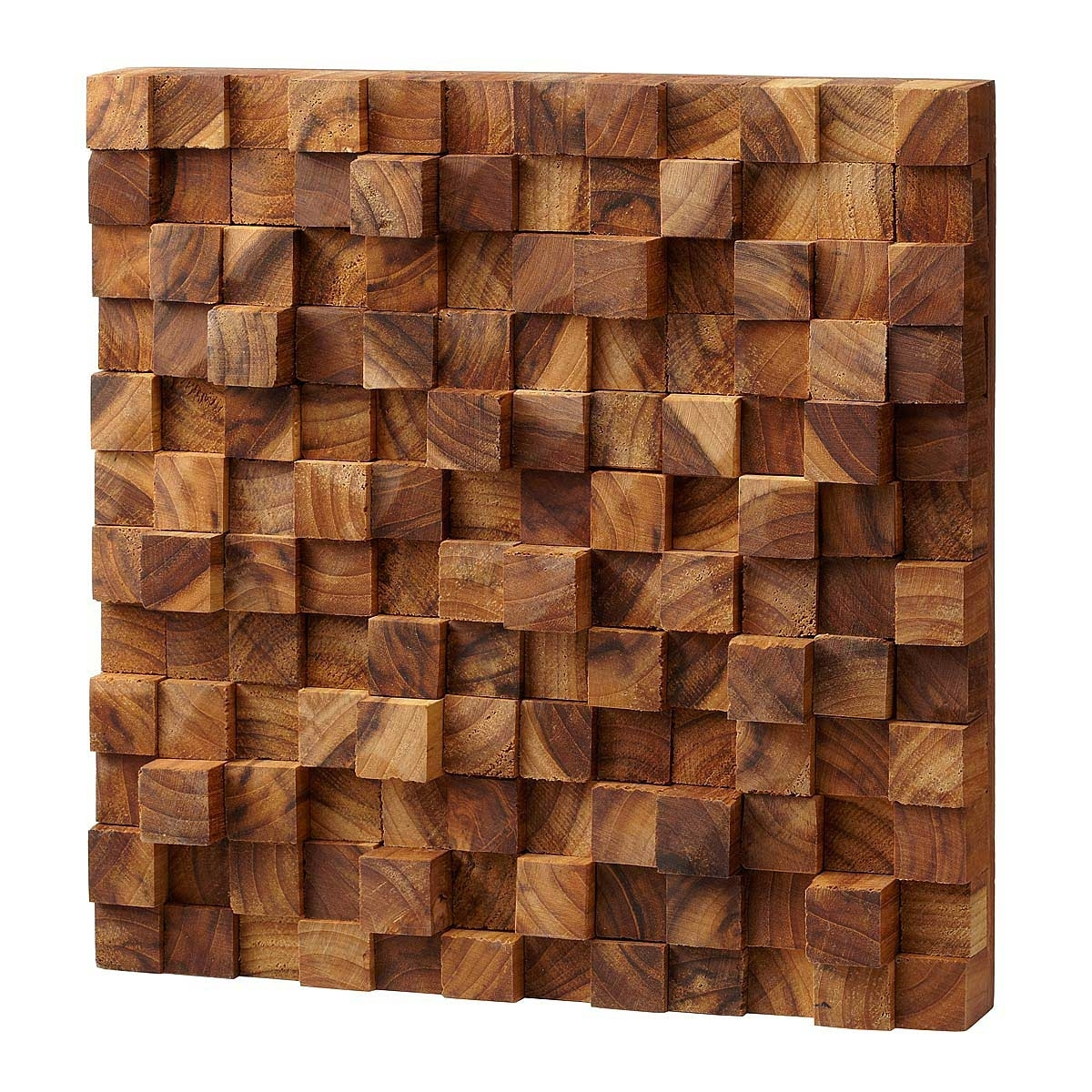 Square Takara Wall Art | Teak Wood, 3D Art | Uncommongoods Pertaining To Best And Newest Wooden Wall Art (Gallery 2 of 15)