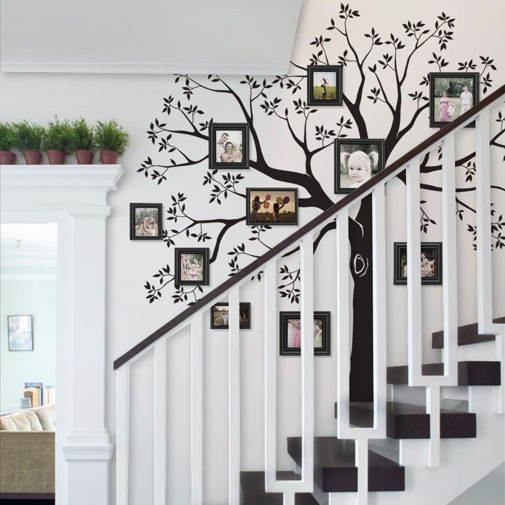 Staircase Family Tree Wall Decal Tree Wall Decal, Family Tree Wall In Recent Family Tree Wall Art (View 13 of 15)