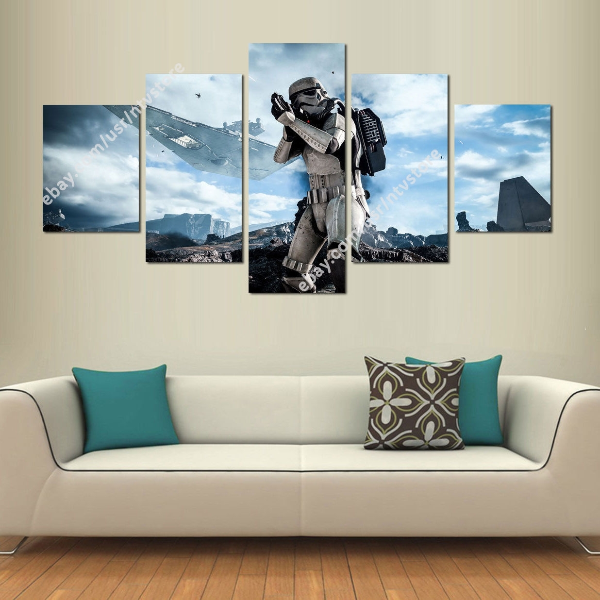 Star Wars Battlefront Stormtrooper Canvas Wall Art Print Set 5 Piece Regarding Current 5 Piece Canvas Wall Art (View 19 of 20)