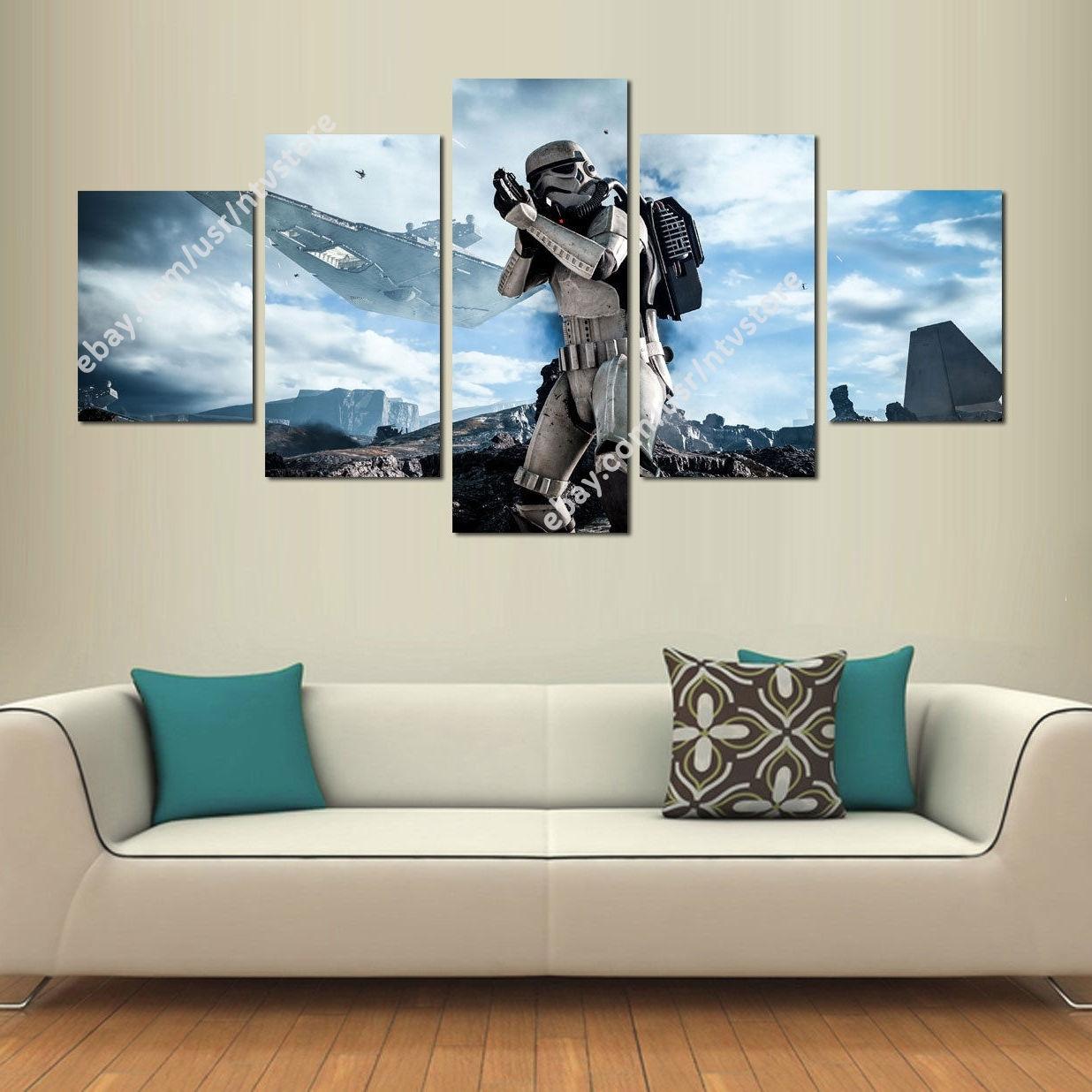 Star Wars Battlefront Stormtrooper Canvas Wall Art Print Set 5 Piece Regarding Current 5 Piece Canvas Wall Art (View 19 of 20)