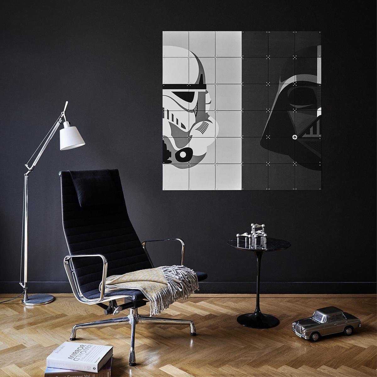 Star Wars Stormtrooper/darth Vader Wall Art Panels – Tgi Found It With Recent Star Wars Wall Art (Gallery 14 of 15)