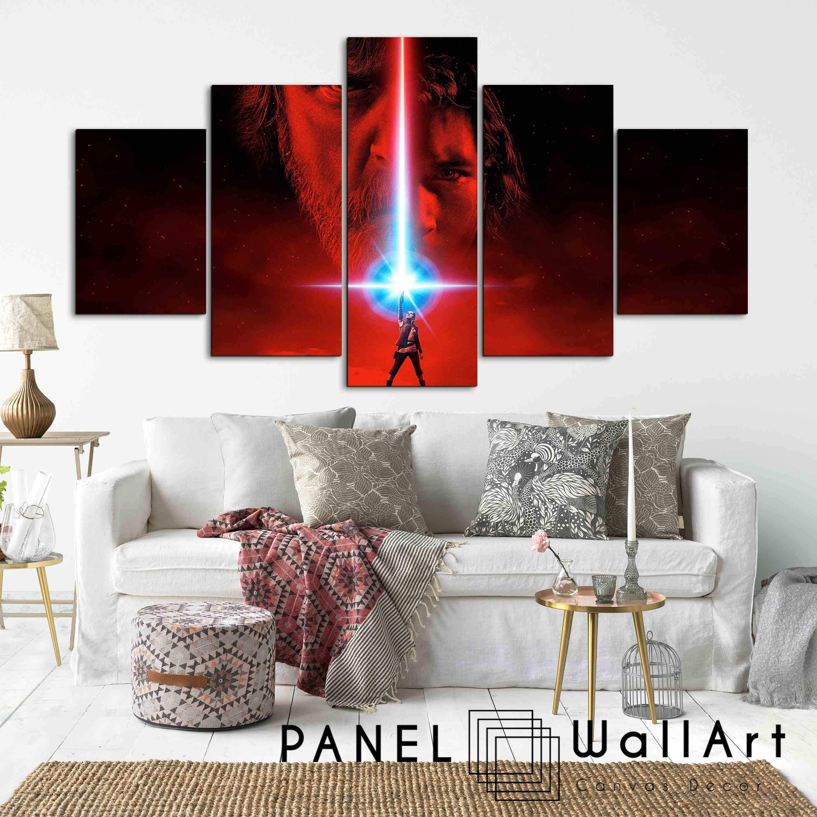 Star Wars The Last Jedi | Panel Wall Art  Panelwallart Within Most Current Panel Wall Art (Gallery 16 of 20)