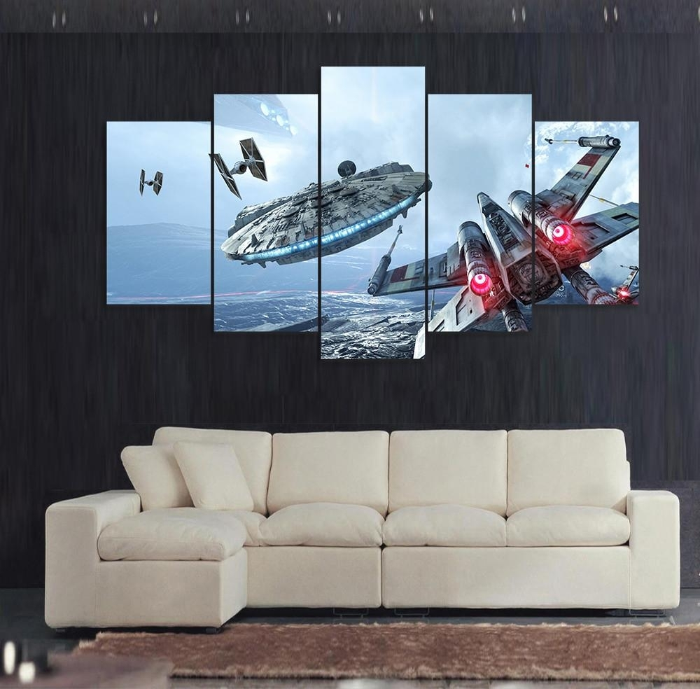 Star Wars Wall Art Color : Andrews Living Arts – Fantastic Room With Within Most Recently Released Star Wars Wall Art (Gallery 2 of 15)