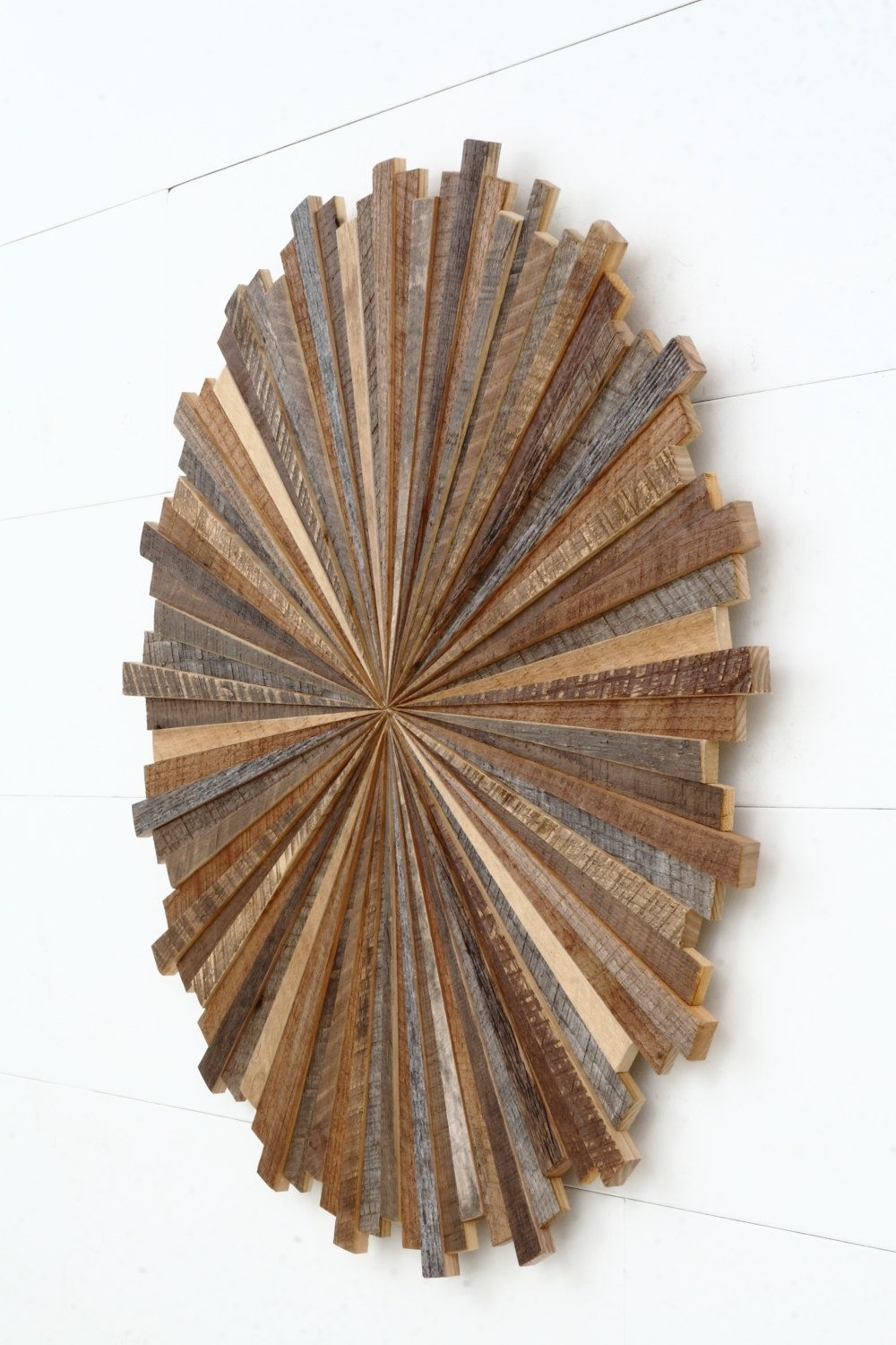 Starburst Wood Wall Art Made With Old Reclaimedcarpentercraig Pertaining To Best And Newest Starburst Wall Art (Gallery 14 of 20)