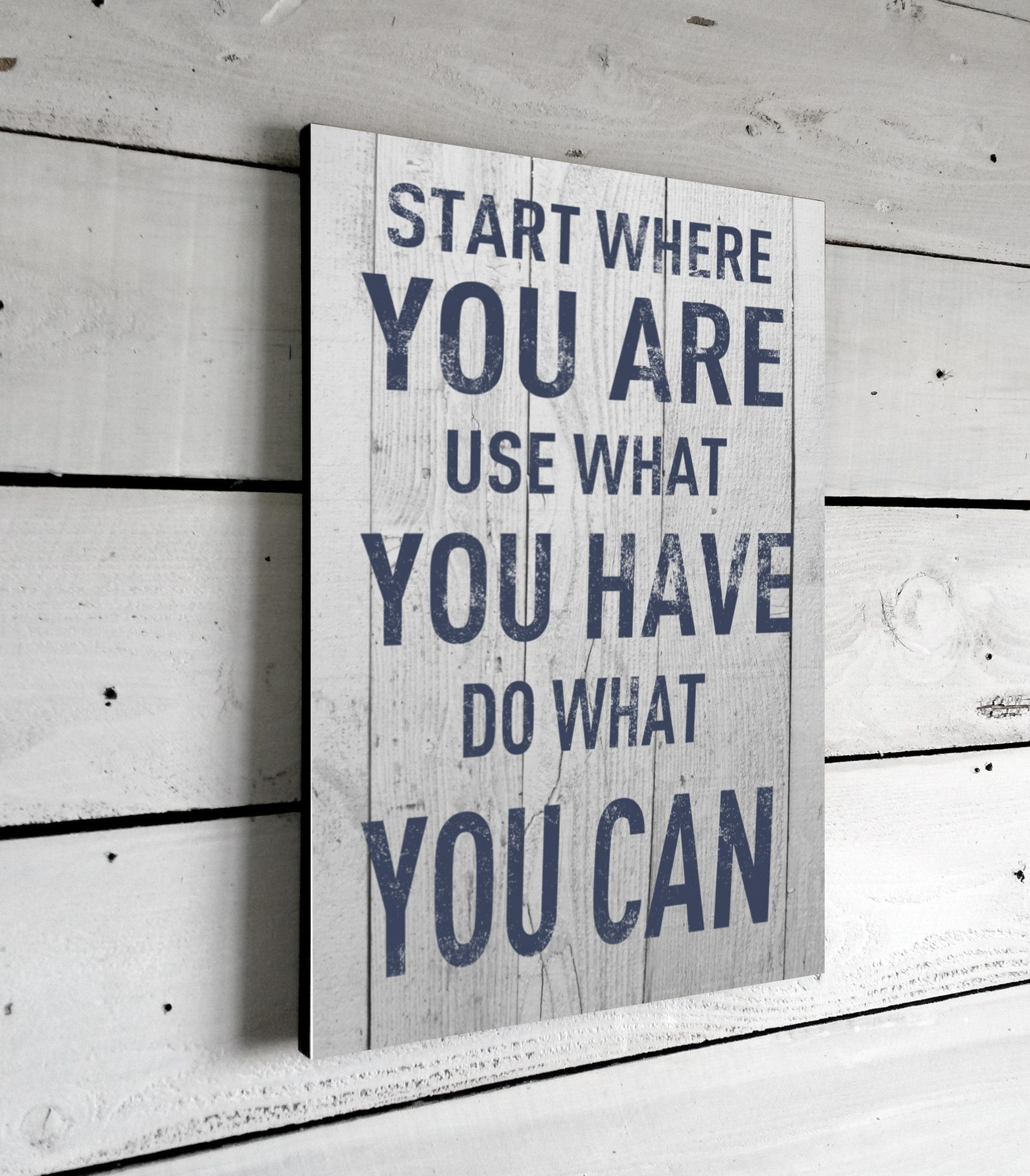 Start Where You Are, Quote Print On Wood, 11X16 | Word Intended For Latest Wood Wall Art Quotes (View 12 of 20)