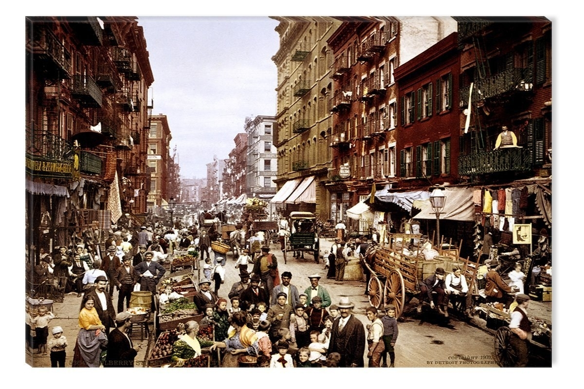 Startonight Wall Art Canvas Nyc Mulberry Street 1900 Photo Inside Most Up To Date Nyc Wall Art (View 15 of 20)
