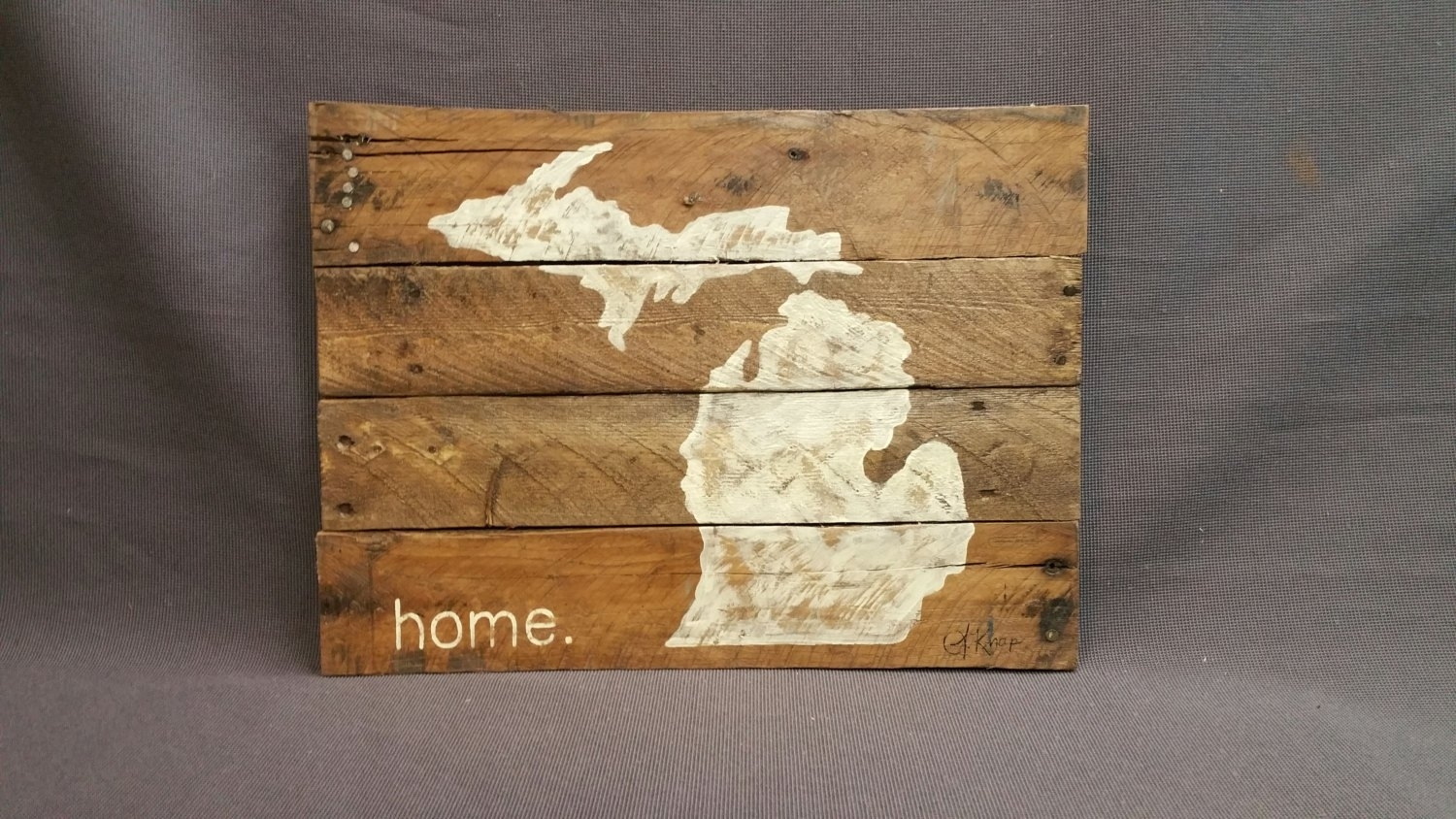 State Of Michigan Reclaimed Wood Pallet Wall Art Gift Hand, Pallet With Regard To Current Michigan Wall Art (View 13 of 20)