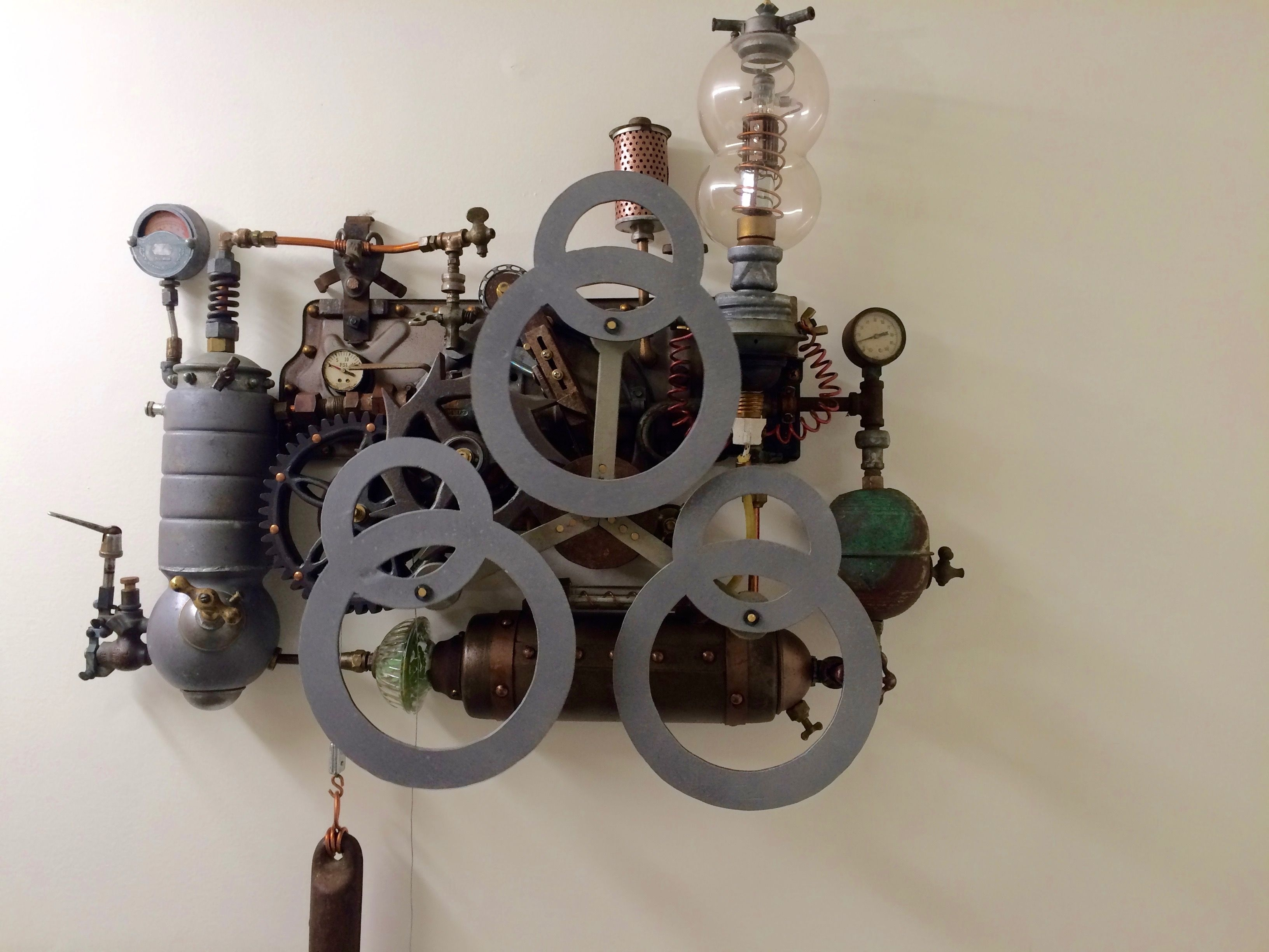 Steampunk Kinetic Sculpture (View 13 of 20)