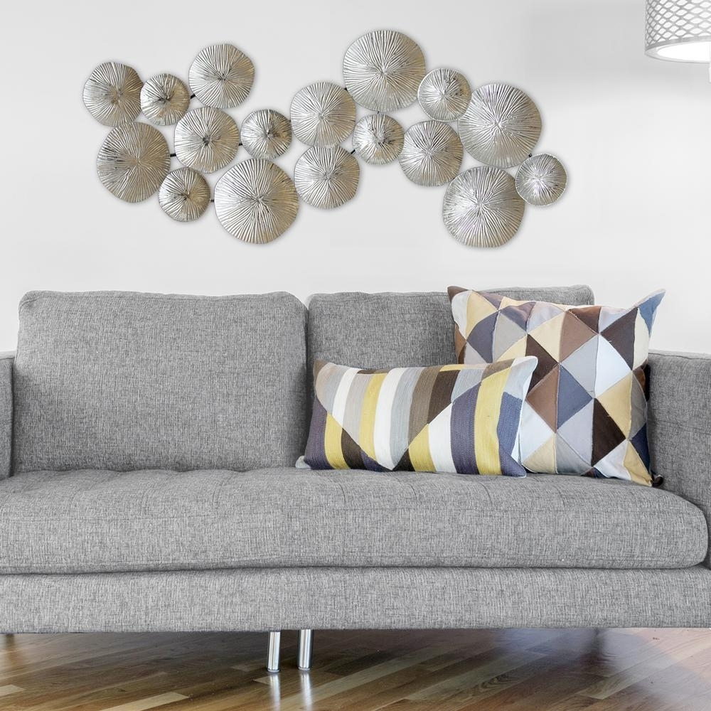 Stratton Home Decor Silver Circles Metal Wall Decor S03905 – The In 2018 Silver Wall Art (View 18 of 20)