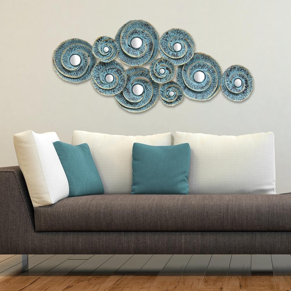 Stratton Home Decor Stratton Home Decor Decorative Waves Metal Wall Intended For Most Current Wall Art Decors (View 7 of 15)