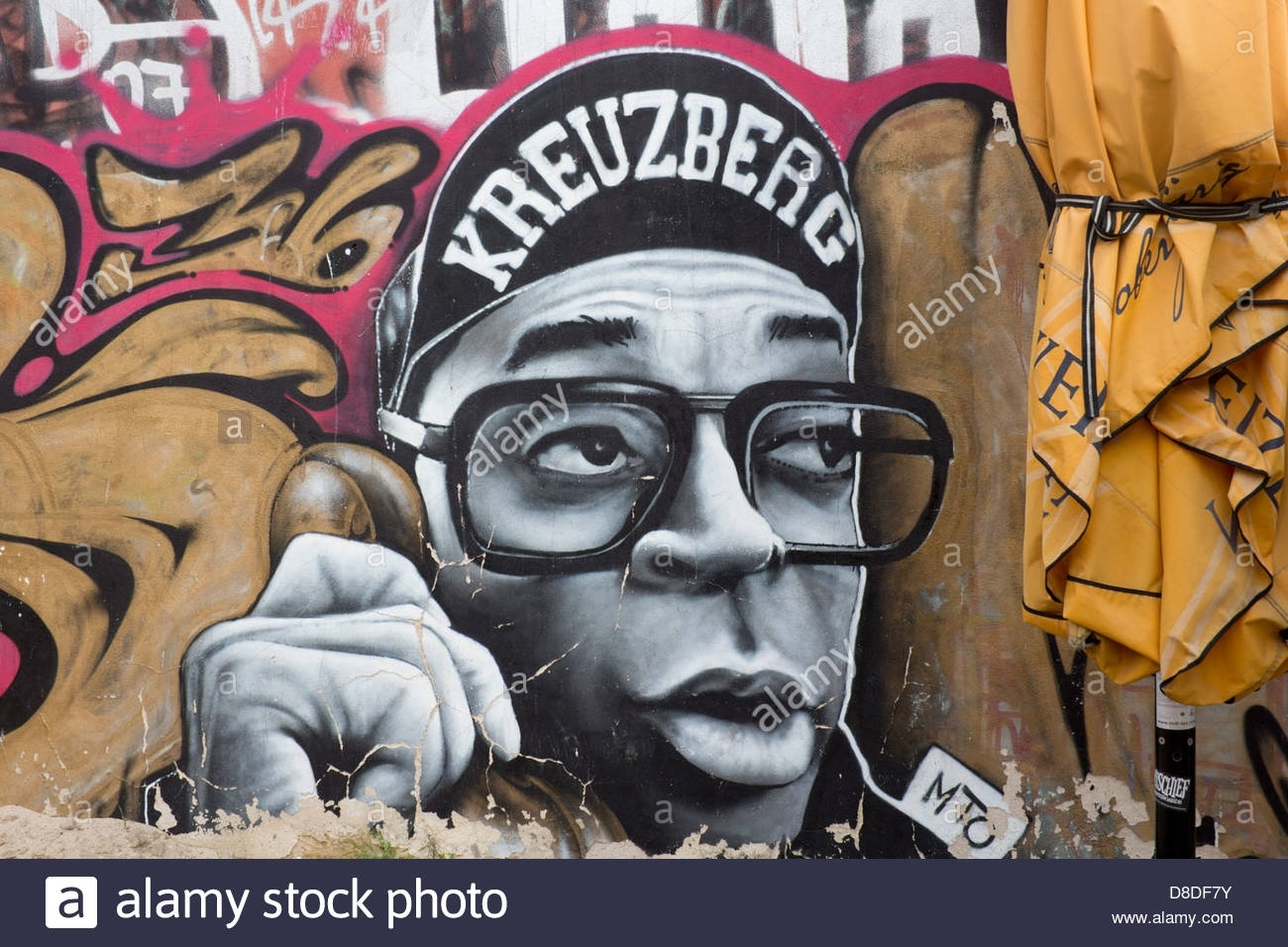Street Art Graffiti On Wall In Kreuzberg Hip Hop Style Male Within Current Hip Hop Wall Art (View 12 of 15)