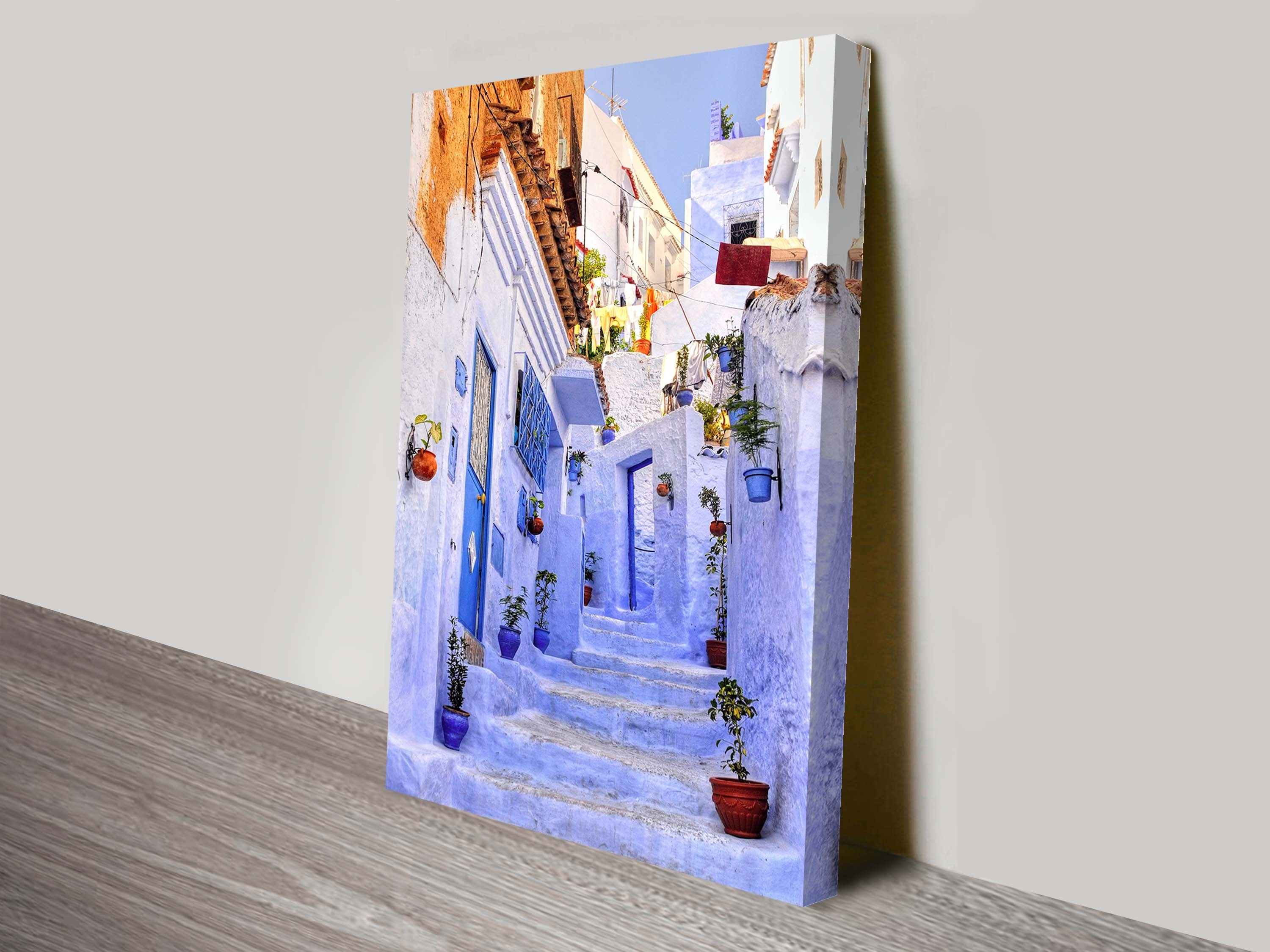 Streets Of Morocco Wall Art On Canvas Regarding 2017 Moroccan Wall Art (Gallery 16 of 20)