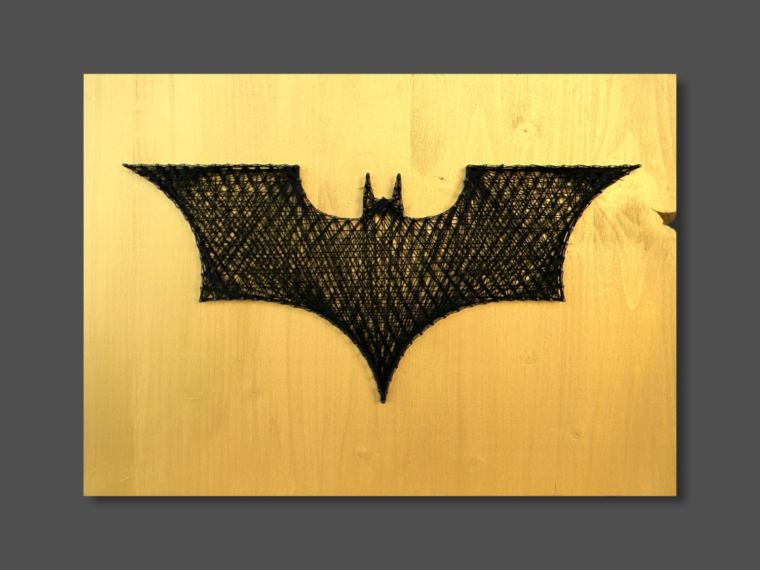 String Art Batman Wall Art Wall Decor Batman Decor Logo Batman Intended For Most Recently Released Batman Wall Art (Gallery 8 of 20)