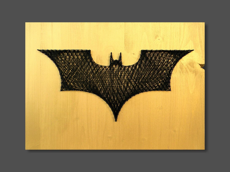 String Art Batman Wall Art Wall Decor Batman Decor Logo Batman Intended For Most Recently Released Batman Wall Art (View 8 of 20)