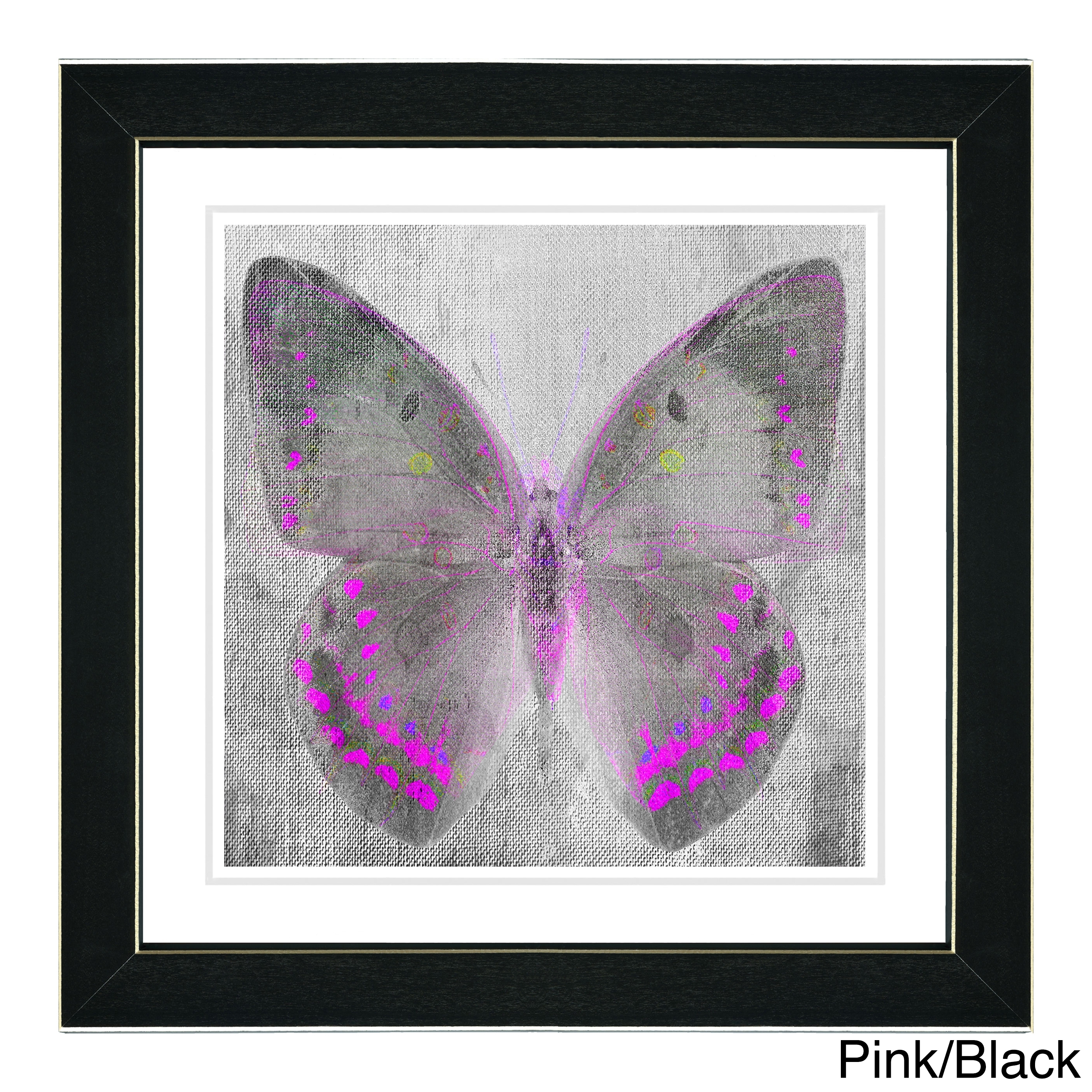 Studio Works Modern 'dusk Butterfly' Wall Art Framed Fine Art Print Inside Most Current Butterfly Wall Art (View 15 of 15)