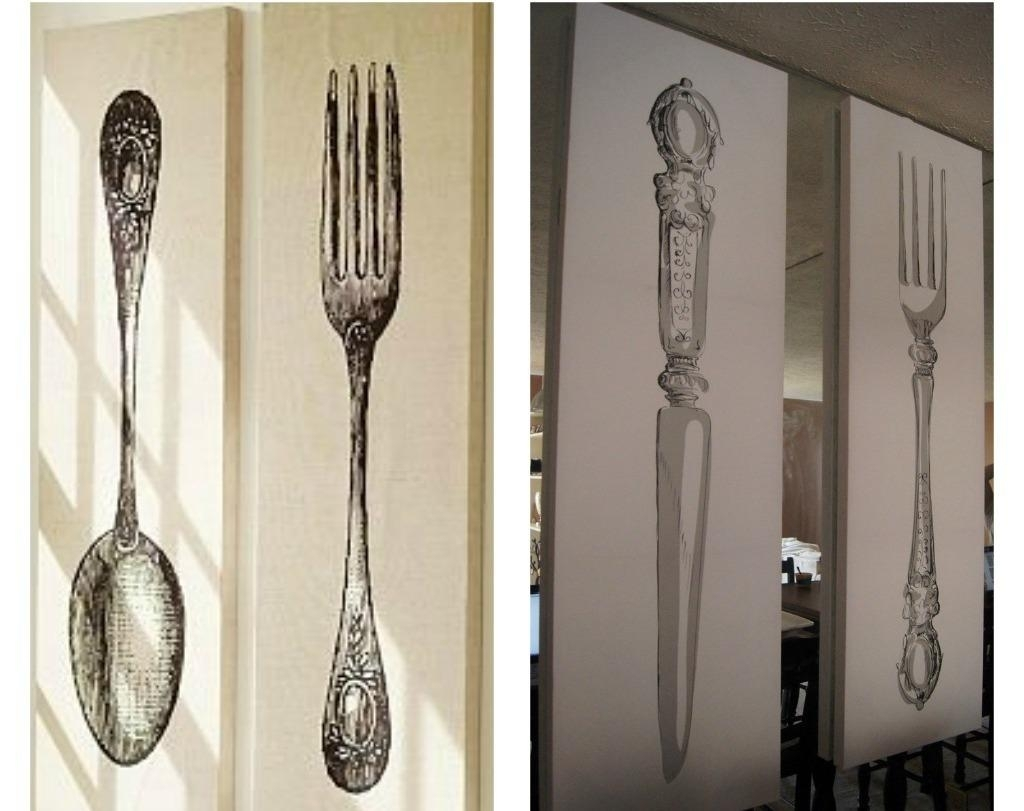 Style Of Spoon And Fo Ideal Fork And Spoon Wall Decor – Wall Regarding 2017 Fork And Spoon Wall Art (Gallery 2 of 20)