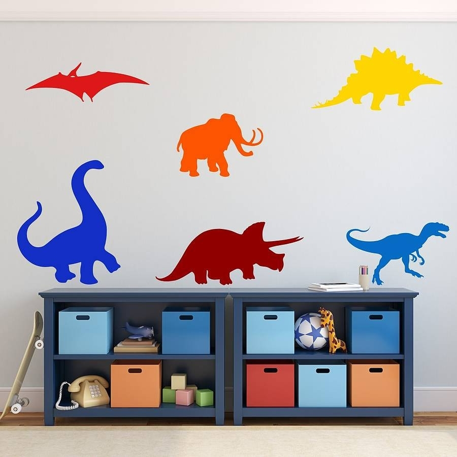 Stylish Design Dinosaur Wall Art New Trends Dinosaurs Kids Stickers Throughout Current Dinosaur Wall Art (View 17 of 20)
