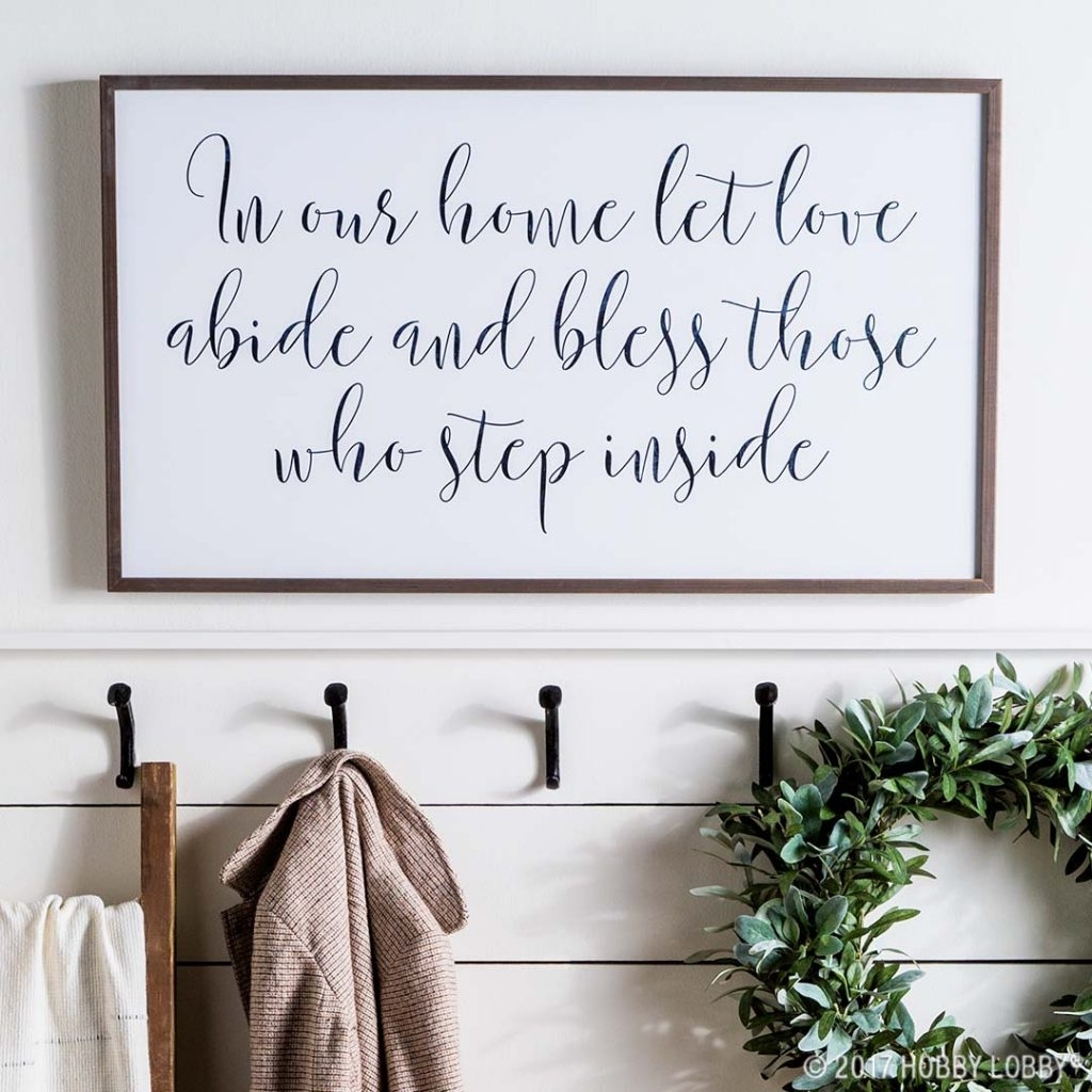 Stylish Wall Decor Trends To Diy Or Try! Inside Newest Hobby Lobby Wall Art (View 16 of 20)