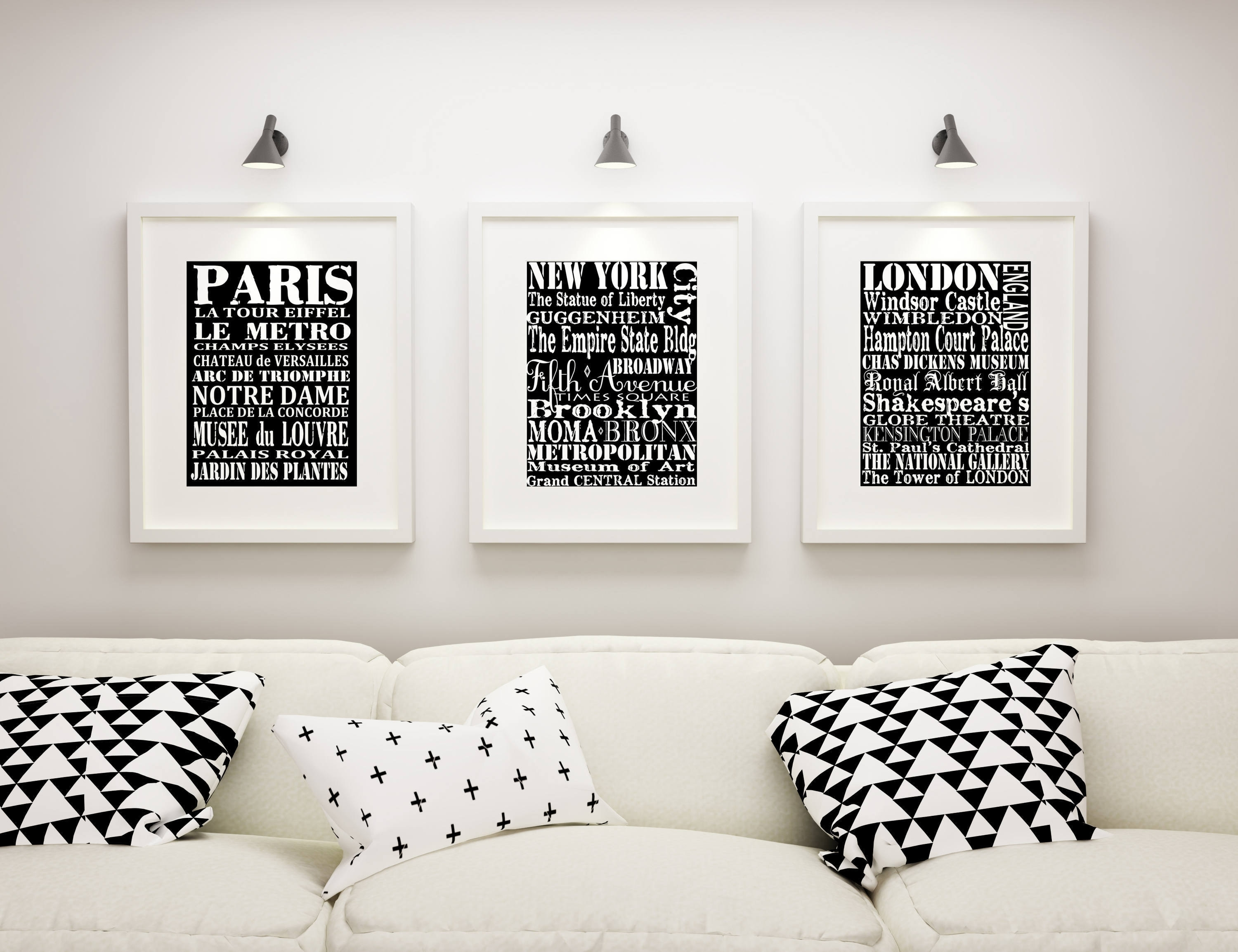 Subway Wall Art, 3 Matted And Framed Subway Art Prints, Paris, New Regarding Most Recent New York Wall Art (Gallery 9 of 20)