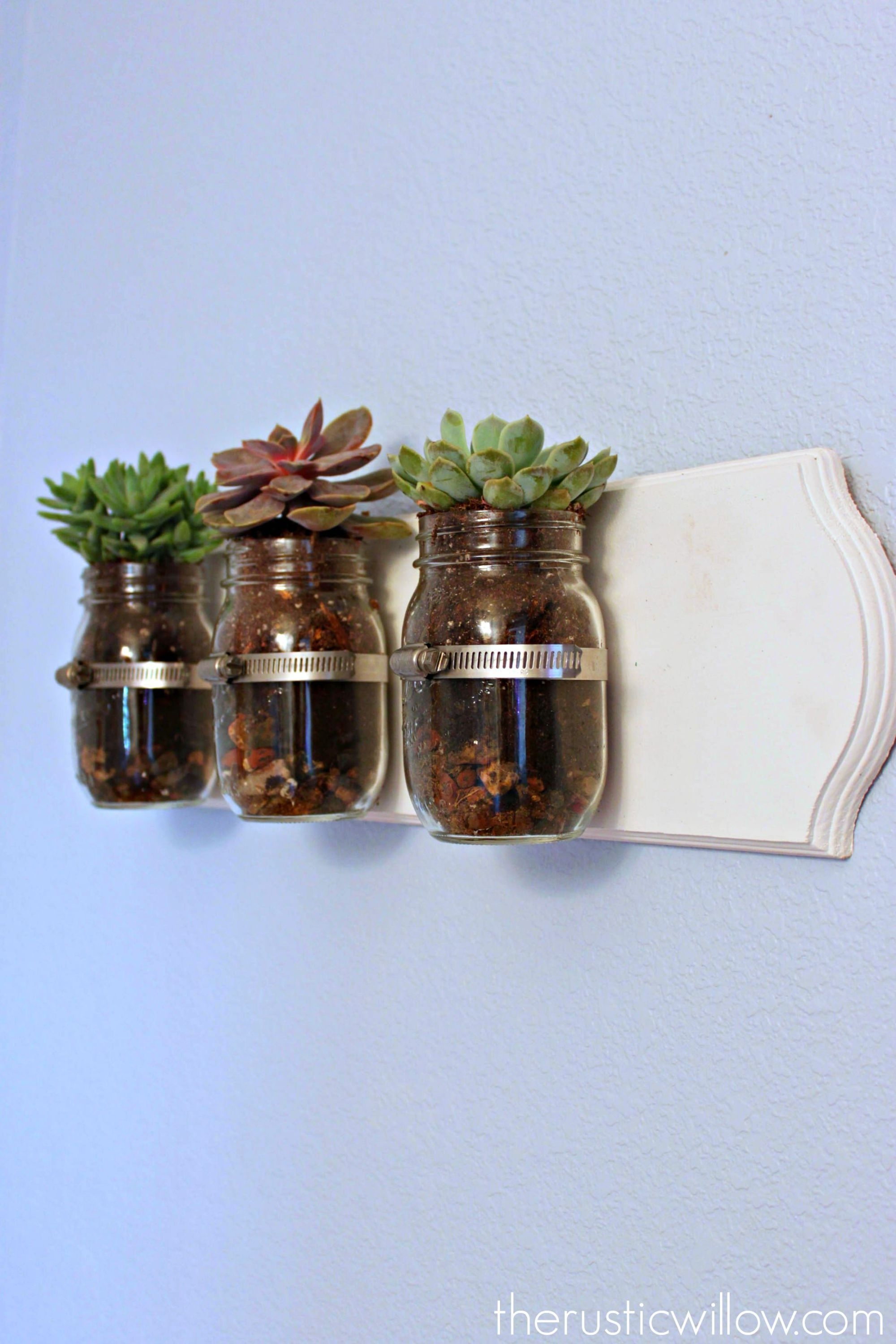 Succulent Mason Jar Wall Art | Jar, Succulent Wall And Walls Within Recent Mason Jar Wall Art (Gallery 8 of 20)