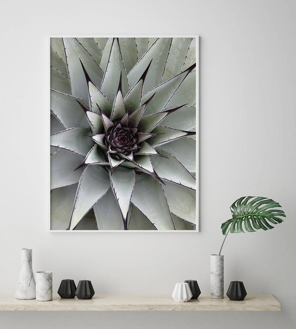 Succulent Plant Poster, Scandinavian Print, Nordic Style, Digital For Most Recently Released Nature Wall Art (Gallery 17 of 20)