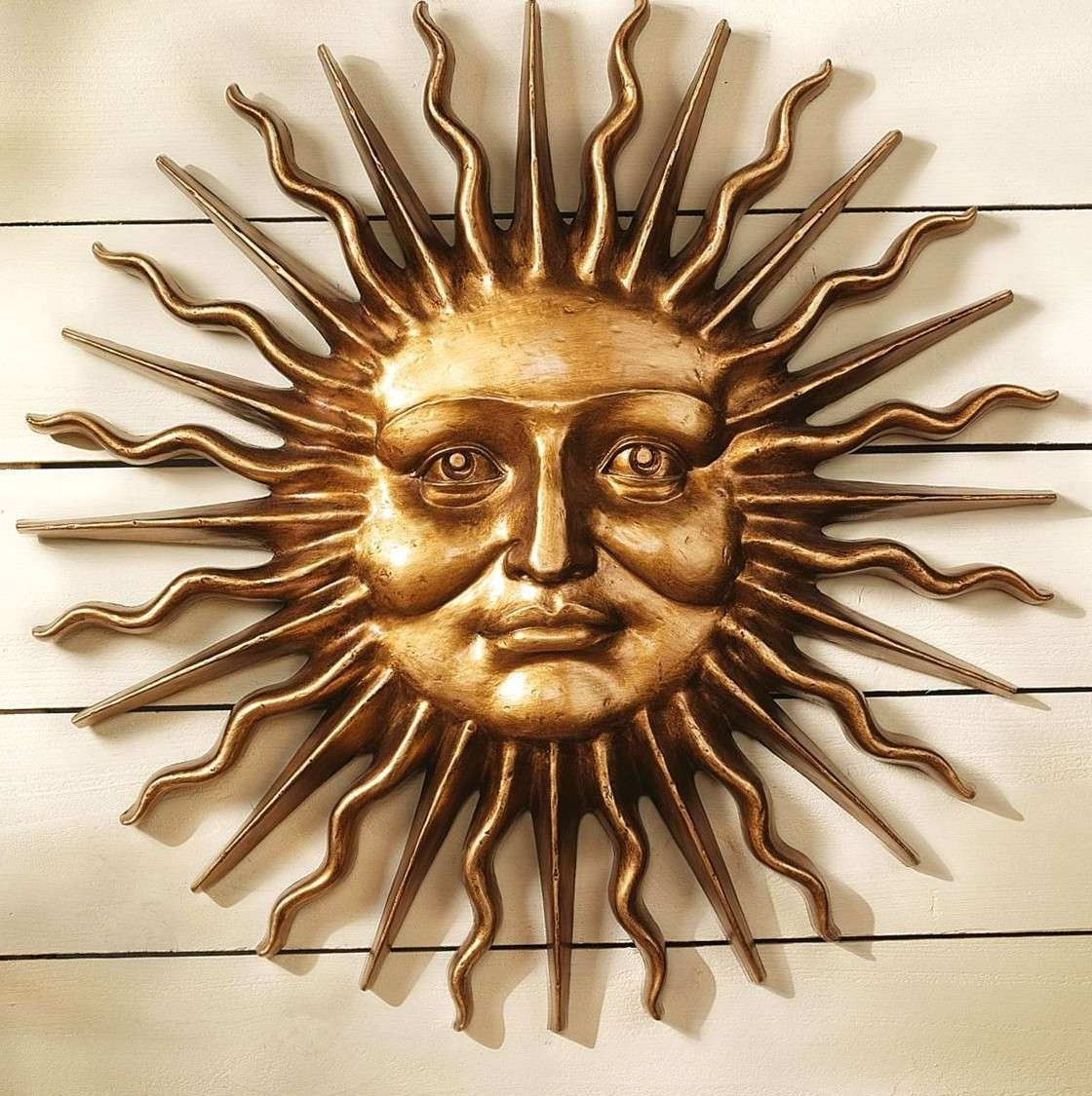 Sun Wall Hanging Outdoor Moon Decor Copper Metal Art – Awesome Home In Most Recent Outdoor Sun Wall Art (View 6 of 15)