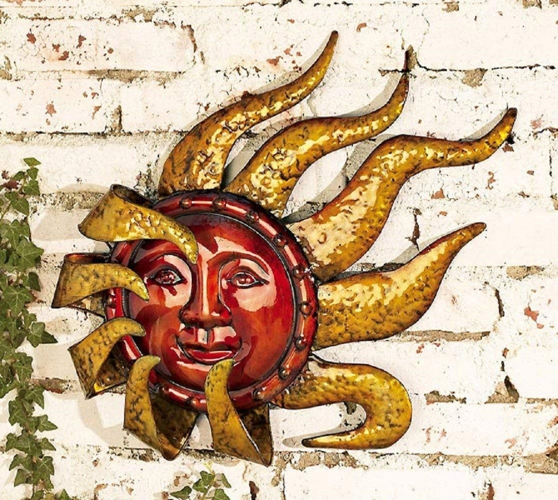Sun Wall Hanging Outdoor Moon Decor Copper Metal Art – Awesome Home Regarding Most Recently Released Outdoor Sun Wall Art (Gallery 11 of 15)
