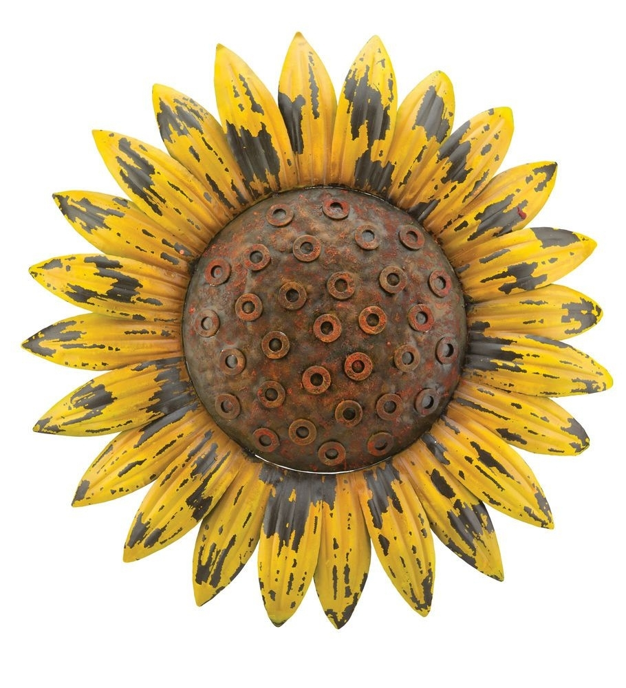 Sunflower Giant Rustic Flower Wall Art Metal Garden Rustic Chic For Most Up To Date Sunflower Wall Art (View 12 of 20)