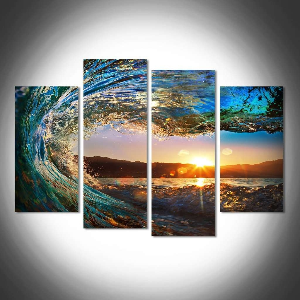 Sunrise & Sunset Wall Art Multi Panel Canvas | Mighty Paintings With Regard To 2018 Multi Panel Wall Art (View 13 of 15)