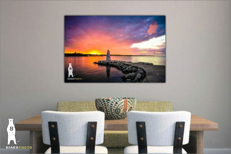 Sunset Photography, Photo Prints, Florida Keys Sunset, Florida Wall For Latest Florida Wall Art (View 16 of 20)