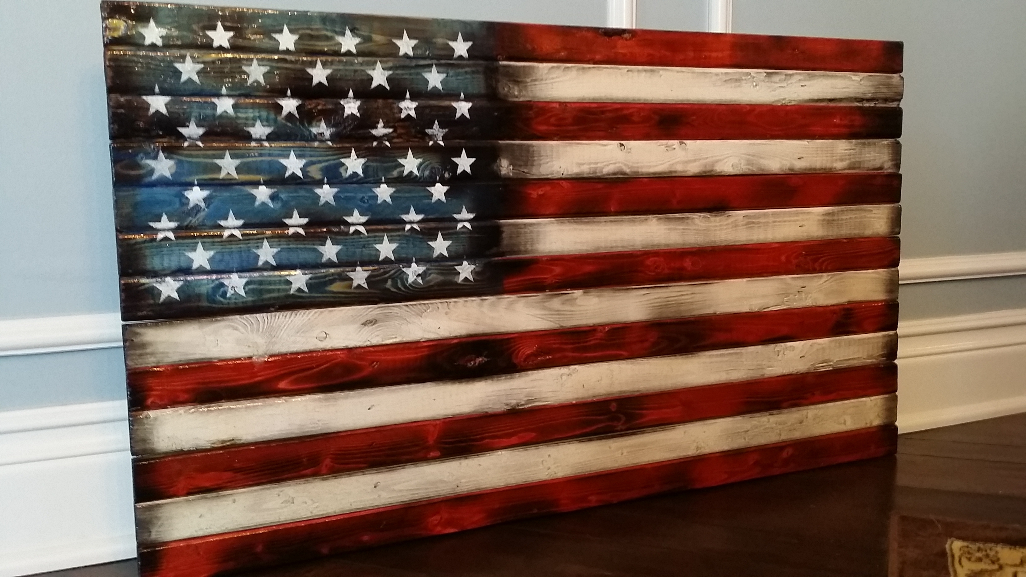 Super Idea Wood American Flag Wall Art Decoration Ideas Handmade In For 2017 Vintage American Flag Wall Art (View 5 of 20)