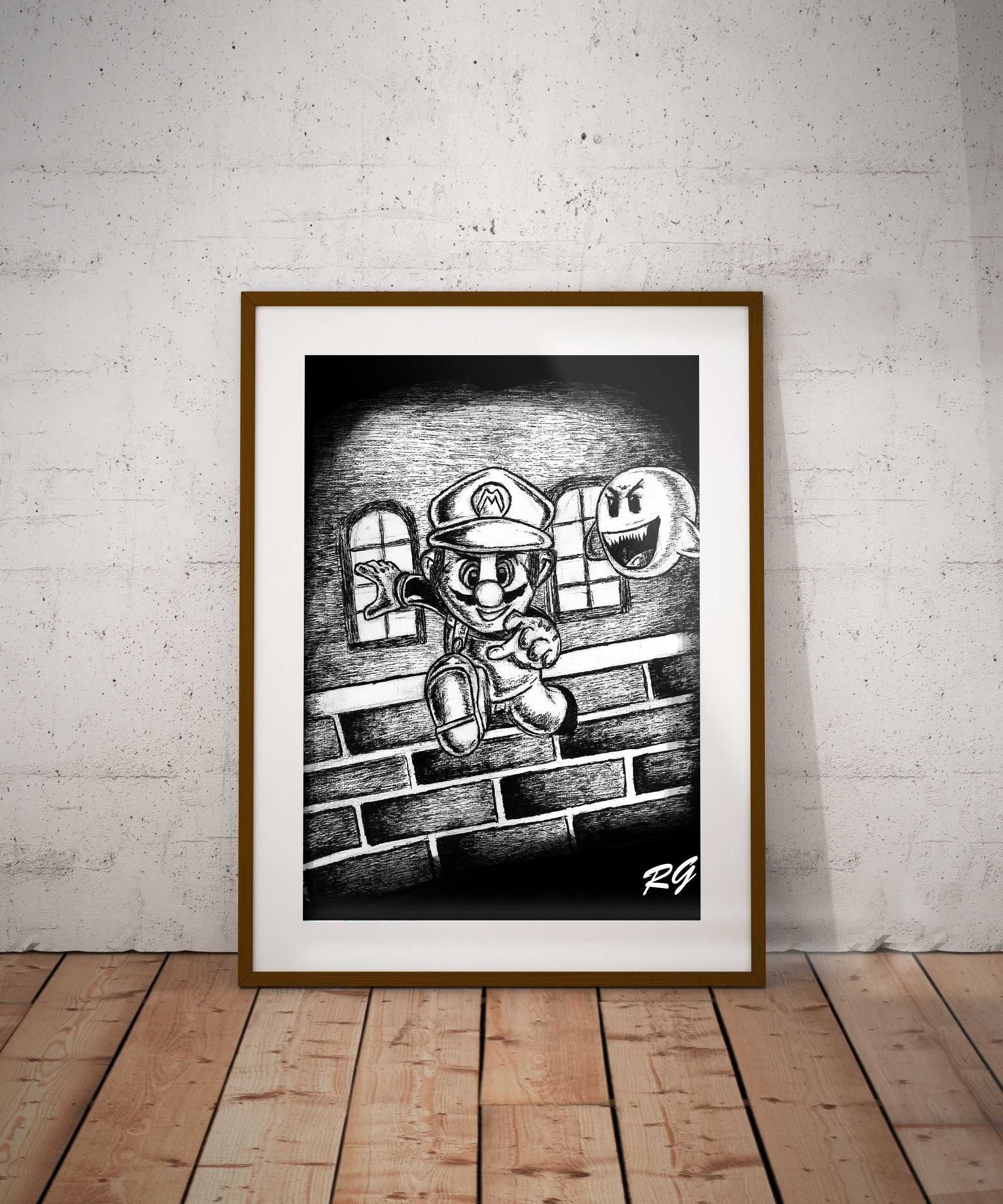 Super Mario Nintendo Video Game Wall Art Print | Products Pertaining To Latest Nintendo Wall Art (View 16 of 20)