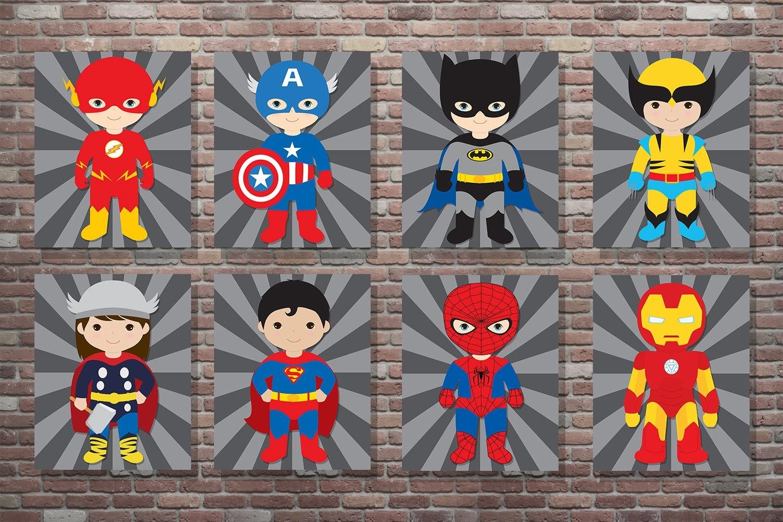 Superhero Decor Superhero Wall Art Superhero Art Digital – Super Tech For Best And Newest Superhero Wall Art (View 11 of 20)